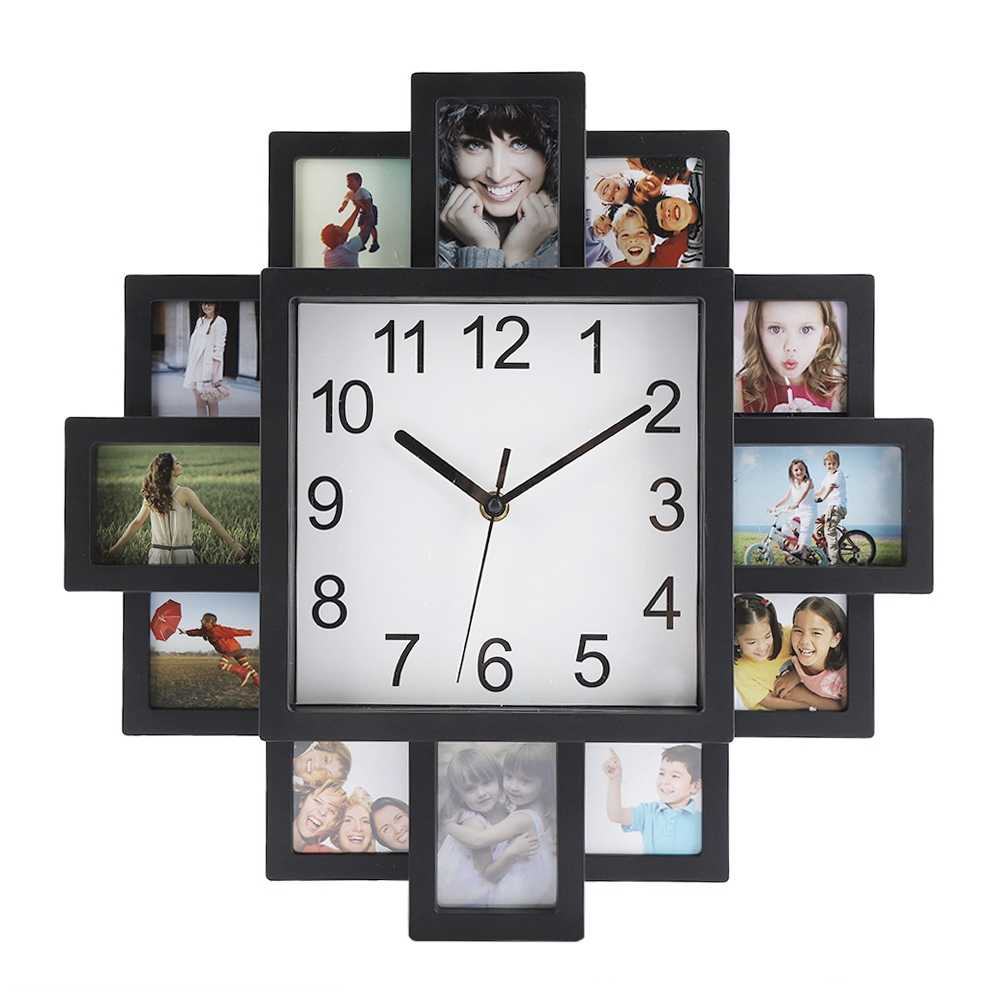 Photo Frame Wall Clock  2019 New DIY Modern Desigh Art  Picture Clock  Living Room  Home Decor Horloge