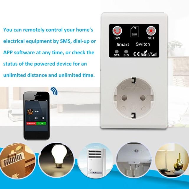Prise de courant intelligente | Prises électriques, appel SMS APP, télécommande, interrupteur pompe, routeur, appareil électrique, prise