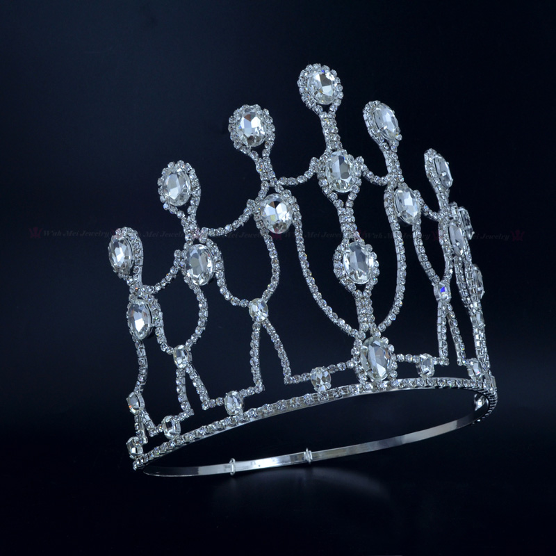 Large Size Pageant Tall Crowns Tiaras Rhinestone Crystal Bridal Princess Wedding jewelry Party Hair Accessories Headress 02444