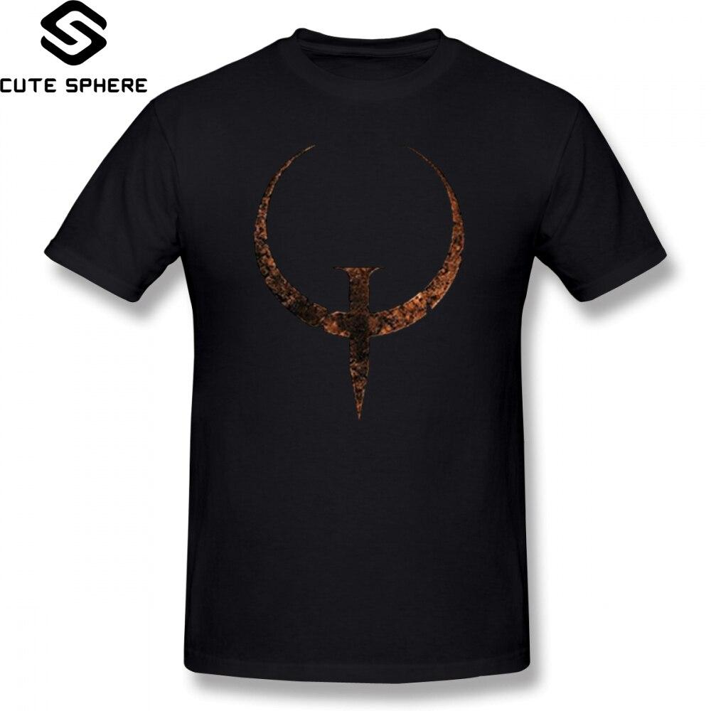 Quake T Shirt Quake T-Shirt Basic Short Sleeves Tee Shirt Plus Size  Male 100 Percent Cotton Awesome Printed Tshirt