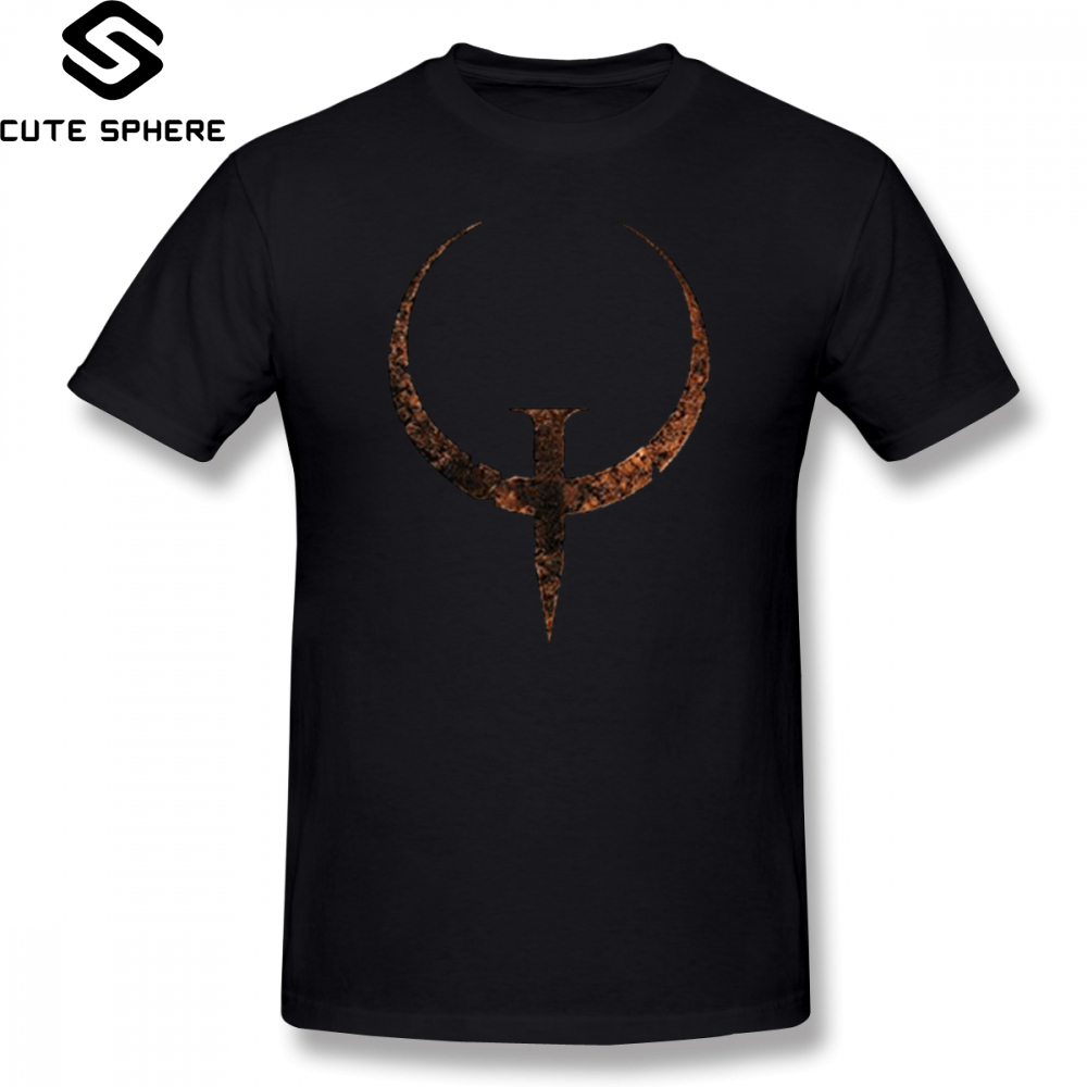 Quake   T     Shirt   Quake   T  -  Shirt   Basic Short Sleeves Tee   Shirt   Plus size Male 100 Percent Cotton Awesome Printed Tshirt