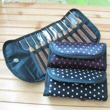 Сумка для вязания спиц с волнистыми точками, 1 шт., переносная сумка для вязания крючком, подставки для вязания, Швейные аксессуары, ручные инструменты для вязания