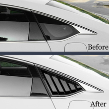 ABS Rear Quarter Panel Window Side Louvers Vent Trim For Honda Accord 2018 2Pcs