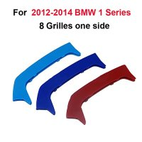 3D Front Grille Trim Strips grill Cover Stickers For BMW F20 F21 2012 2014 8 Grills Frone Grille Car Accessories Auto Part