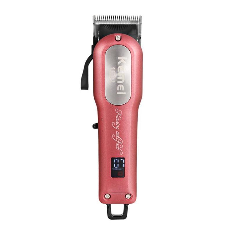 Professionnel électronique tondeuse cheveux tondeuse rasoir Kemei sans fil tondeuse tondeuse coupe rasoir avec 4 Guide peigne