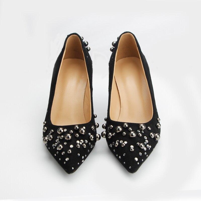 Echtem High Frauen Hohe Schuhe Neue Hochzeit Aus Für Qualität Stil Leder Pumpen Heels qOtvRUAw