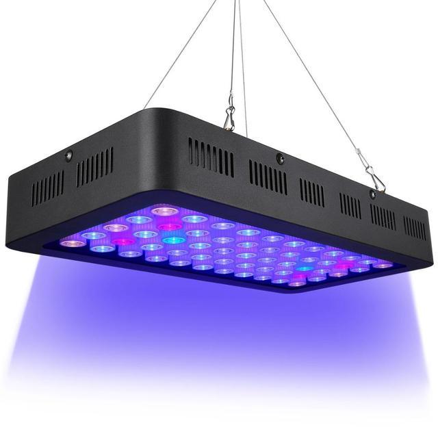 Dimmable 165 w led à spectre complet aquarium lampe pour coral reef led pour aquarium éclairage meilleur pour les réservoirs de Poissons la Croissance des plantes Marines