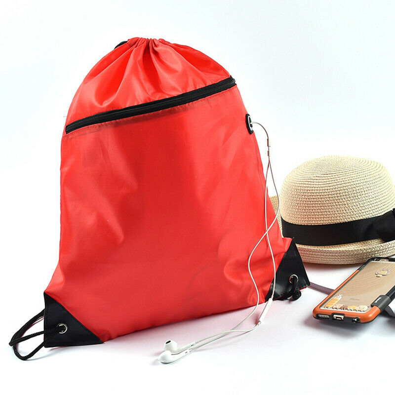 Cinch Sack School Gym Storage Duffle Backpack Pack Drawstring Bag Pouch