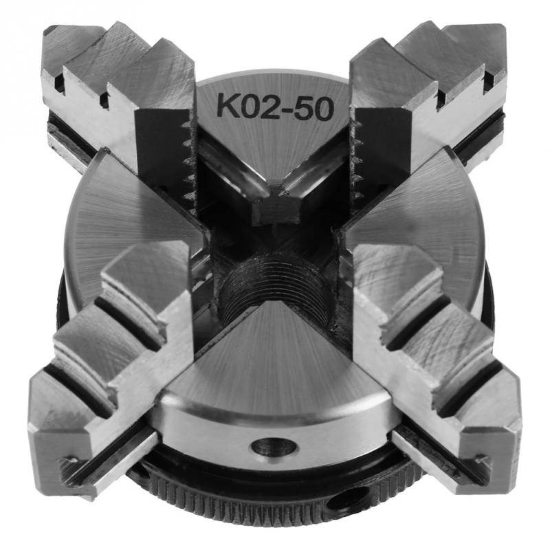50mm Mini 4 Jaw Reversible Self Centering M14 Thread Mount Lathe Chuck K02 50 Wholesale