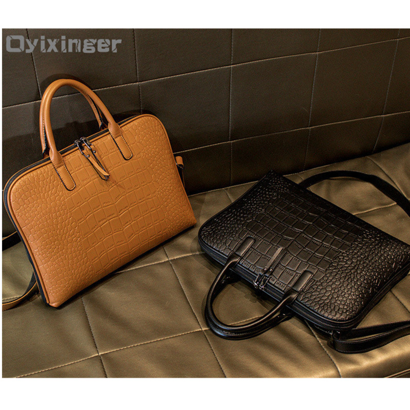 2019 Business Women's Briefcase Leather Handbag Women Totes 13.3 14 Inch Laptop Bag Shoulder Office Bags For Female Briefcases
