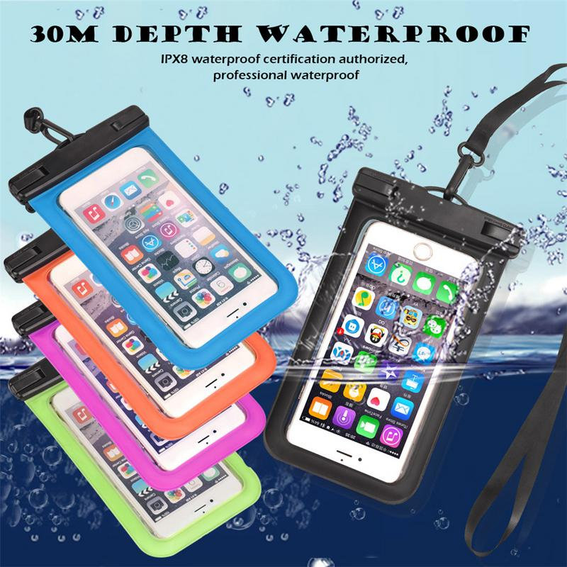 Dry Bag PVC Mobile Phone IPX8 Waterproof Certification Transparent Pack Pouch Cover For Diving Swimming For Most Mobile Phones
