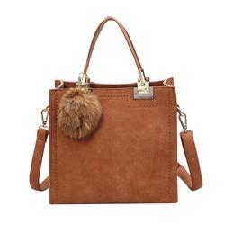 Women Casual Tote Handbags High Quality Leather Handbag With Fur Ball Female Large desigual bag Messenger Bags 2018