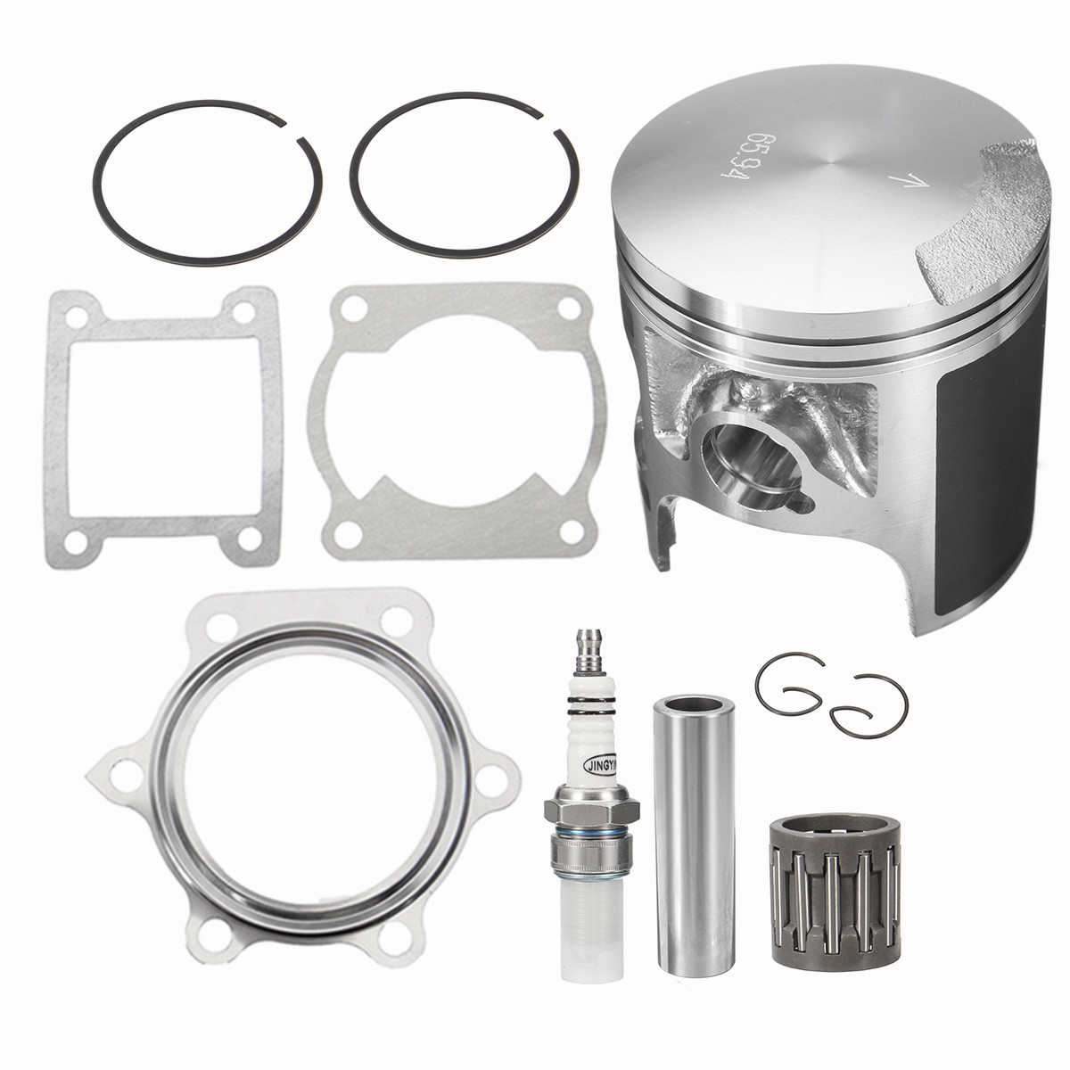 Piston Gasket Piston Rings Top End Gasket Kit Fit For Yamaha For Blaster 200 YFS200 1988-2006 For Spark Plug Needle Bearing