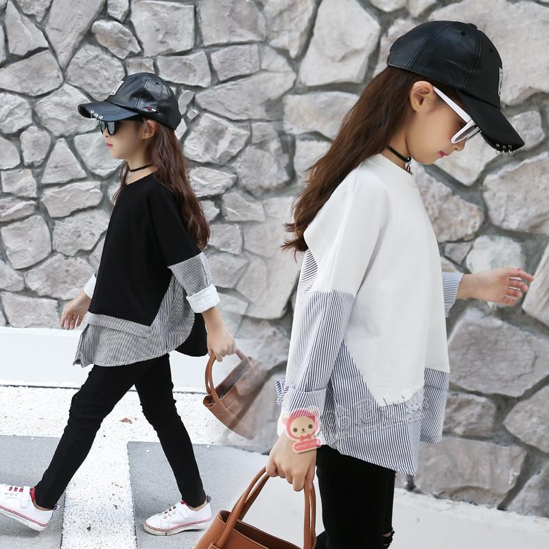 4d08ec654 2019 blusas para niñas ropa de algodón camisetas para Niñas Ropa escolar de  marca para adolescentes 6 7 8 9 10 11 12 tops para niños de 13 14 ...