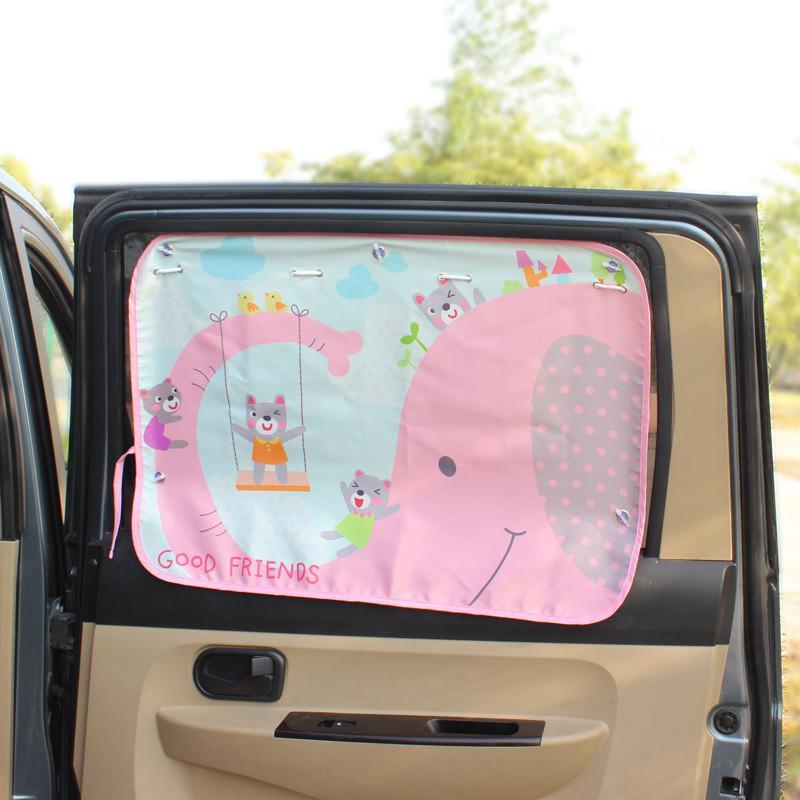 70*50cm Car Cartoon Curtain Cover Sun Blocking Auto Curtain Side Blocking Tensile Sunshade Curtain For Children Car-styling
