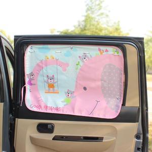 Image 1 - 70*50cm Car Cartoon Curtain Cover Sun Blocking Auto Curtain Side Blocking Tensile Sunshade Curtain for Children car styling