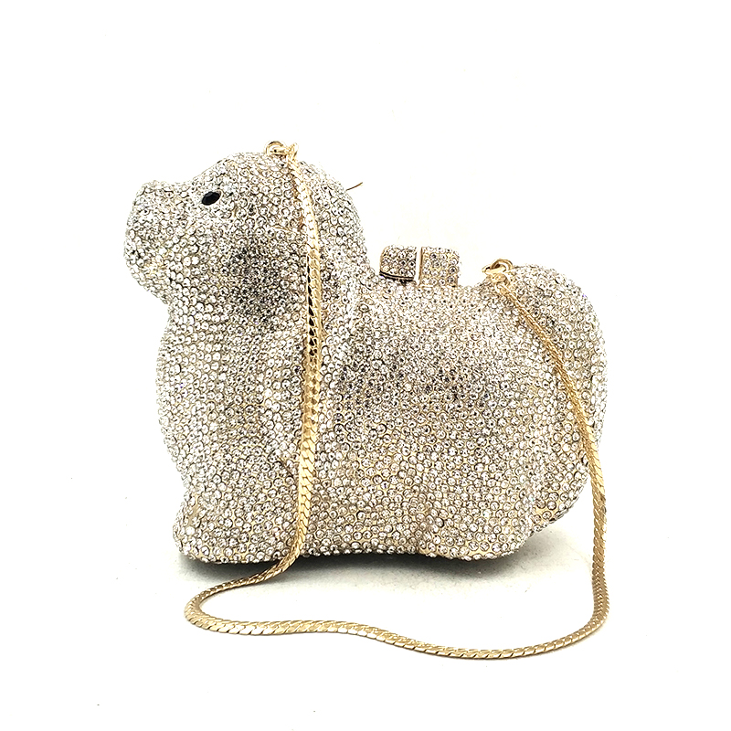 3 color Animal Fête Silver Luxe 6 Accessoires Chien Transparent color Diamants Pet Silver Mariée Color Chiot color À Élégant color Ab Mignon Femmes De color Main 1 2 Sac Pictures Sacs send 4 Gold Soirée 5 Brown OAIqqw