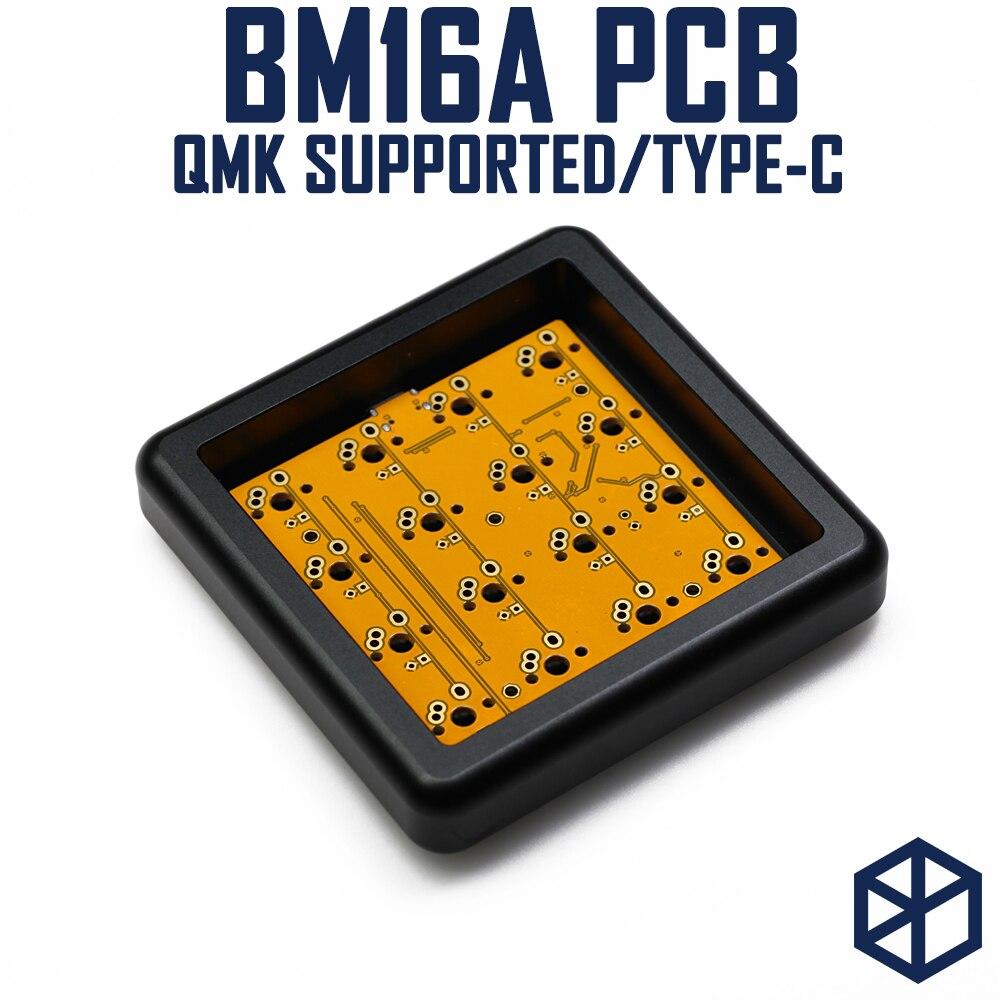 Bm16a 16 Bm16 Keys Custom Mechanical Keyboard PCB Plate Programmed Numpad Layouts Qmk Firmware With Rgb Bottom Underglow Alps Mx