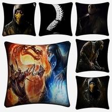 Mortal Kombat Game Art Decorative Cotton Linen Cushion Cover 45x45cm Pillow Case For Sofa Chair Pillow Cover Home Decor Almofada цены