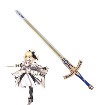 Accesorio de PVC para Cosplay espada Caliburn Saber códigos ilimitado destino noche