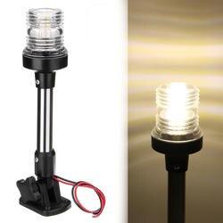 Fold Down светодио дный светодиодный навигационный свет для яхты Лодка кормовой якорь свет 12 В-24 в 25 см Pactrade Морская Лодка парусный световой