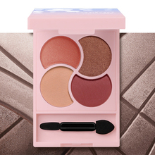 Eyeshadow Pearly Grapefruit Matte Earth Color Four-color Palette Waterproof and sweatproof eye shadow make up tools