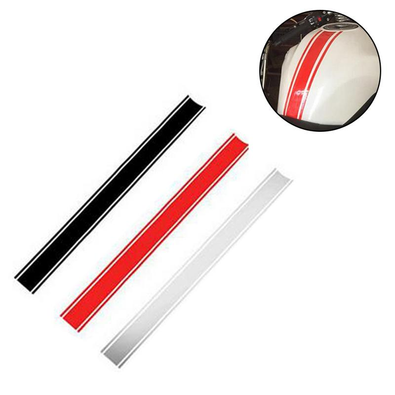 50cm Car Motorcycle Stickers DIY Fuel Tank Cap Reflective Stickers Affixed DIY Pinstripes Racing Car Stickers Black Red Silver