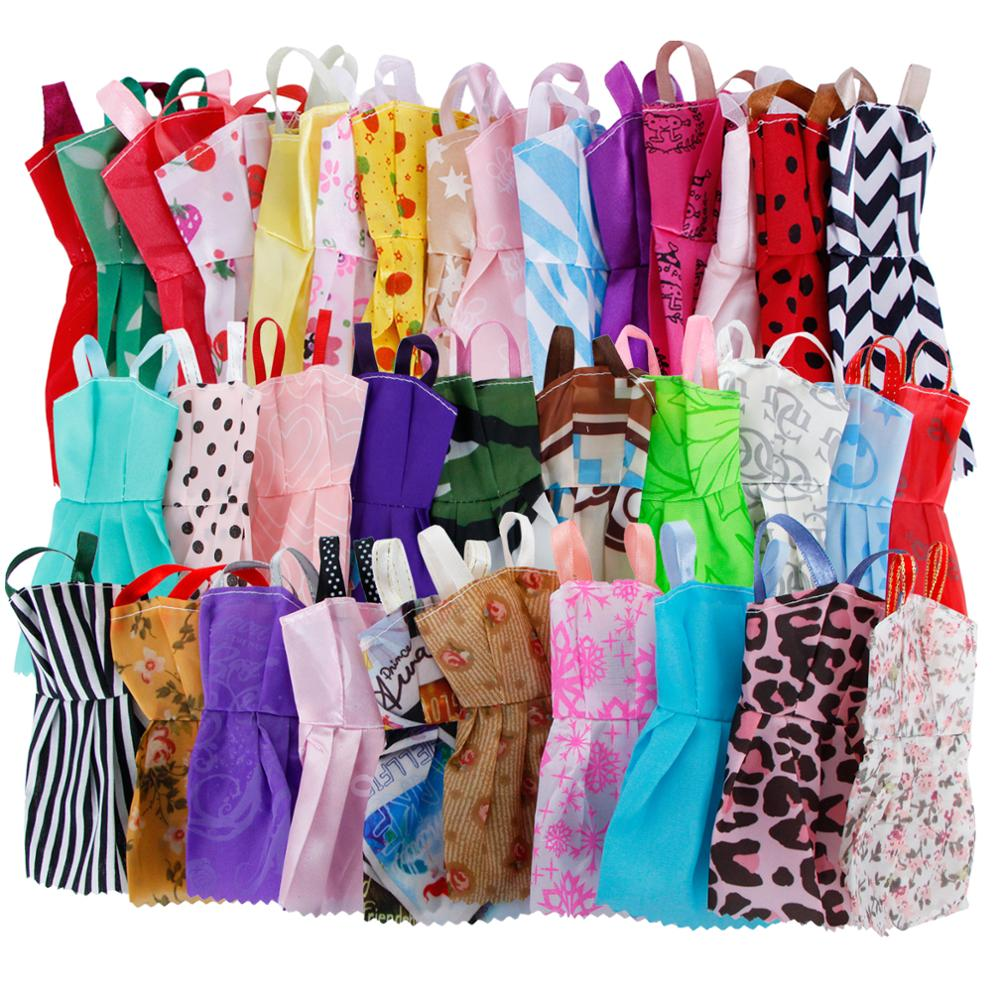 Random 35 Pcs Accessories 10x Mini Dresses + 10x Mixed Shoes + 6x Necklaces  + 5x Handbags + 4x Glasses Clothes For Barbie Doll -in Dolls Accessories  from ... 7b4279ab37a4