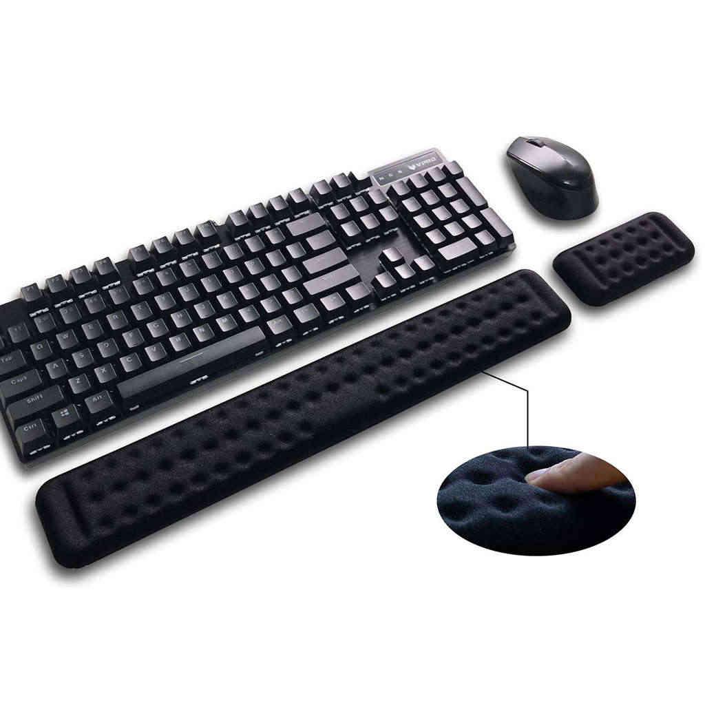 Repose-poignet clavier et ensemble de Support de poignet souris-coussin de poignet de jeu en mousse à mémoire de forme pour bureau, ordinateur, ordinateur portable et Mac-Erg