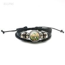 Мультяшные лягушки хор черные Многослойные плетеные браслеты