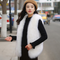 2019 new women winter fashion fake fur vest faux fur coats female jackets