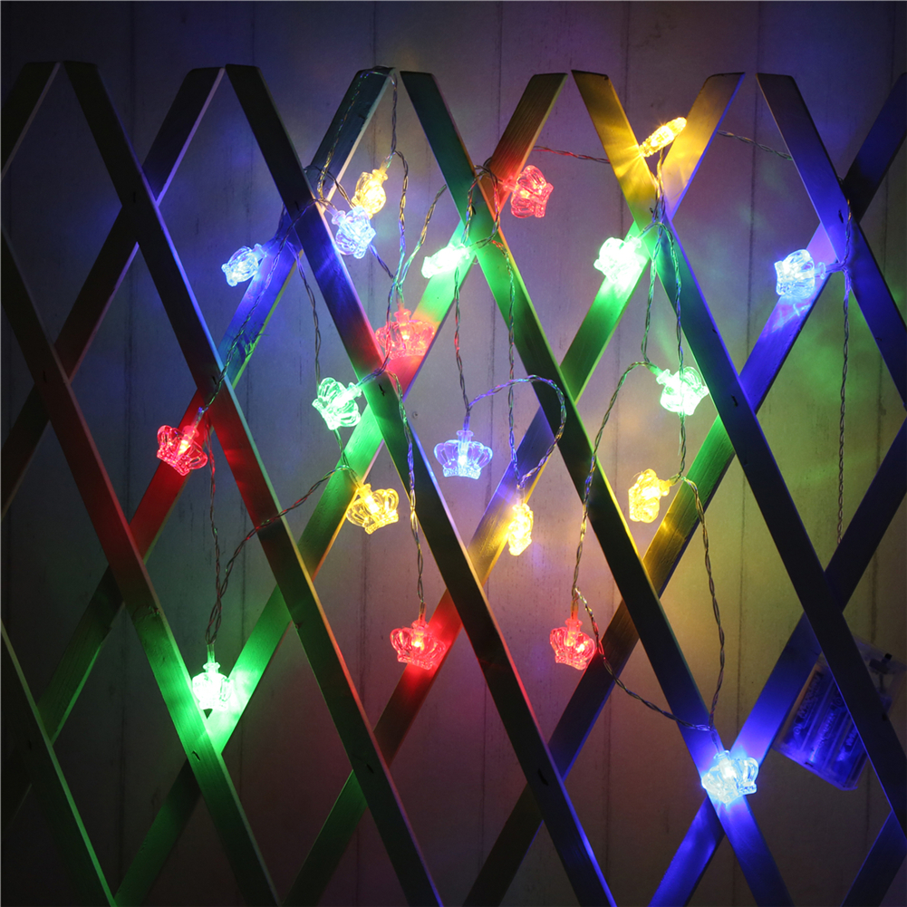 Fairy Lightsfairy LightsCrown String Light 1.5M-10M,10L/20L/40L/96L,3AA/31V US/EU Room Weding Party Wall Window Home Decoration Children Night Lamp