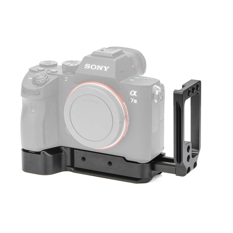 Pour Sony A7M3 A7R3 A9 A7III L support de plaque en alliage d'aluminium plaque de base à dégagement rapide pour accessoires photographiques DSLR