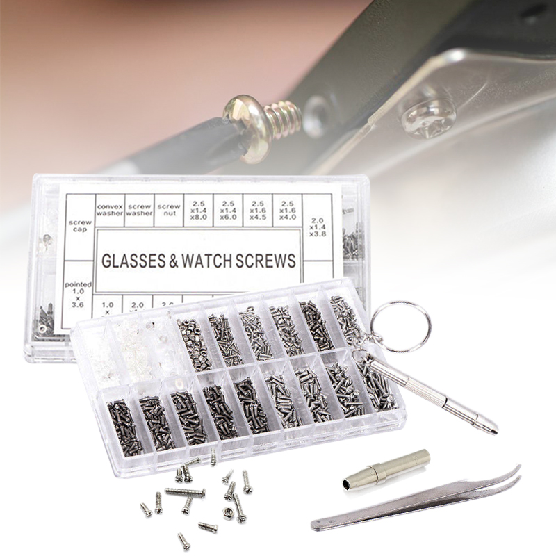 1000Pcs Mini Small Screws Nut Set Kits Stainless Steel Screws Nut Repair Tools Accessories For Glasses Watch Cellphones1000Pcs Mini Small Screws Nut Set Kits Stainless Steel Screws Nut Repair Tools Accessories For Glasses Watch Cellphones