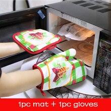 1 Set Kerst Bakken Handschoenen Magnetron Mat Decoraties Voor Thuis Kerstcadeau Home Keuken Accessoires