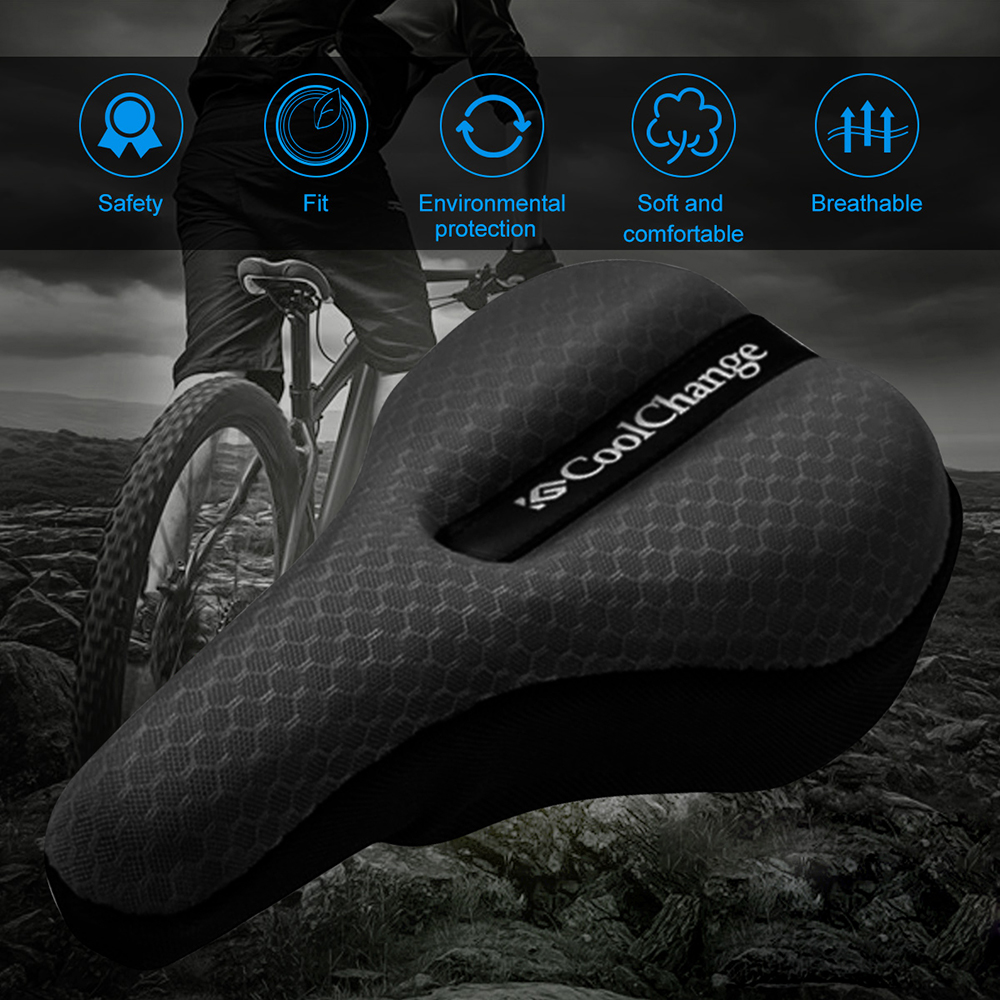 Soft Saddle Pad Cushion Seat Cover Case Road Bicycle Cycling Bike Road Seat New