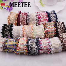 Meetee 10yards 3cm Jacquard Webbing DIY Handmade Sewing Lace Ribbon Carpet Decorativecurtain Clothing  Accessories AP2154