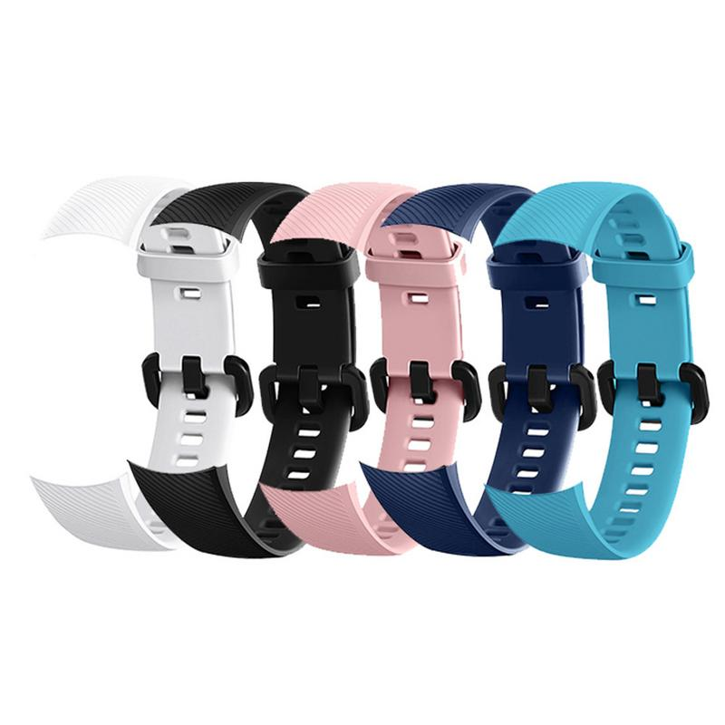 Silicone Soft Straps Replacement Sport Smart Watches Band Rubber Breathable Smooth Wristband Bracelet For Huawei Glory 4-in Smart Accessories from Consumer Electronics