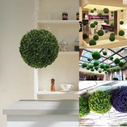 Artificial Green Grass Ball Plant Topiary Hanging Home Garden Yard Decor Fashion