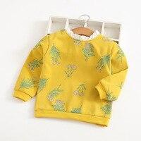 Flowers full of lace 2018 Autumn Korean T shirt children's clothing wholesale