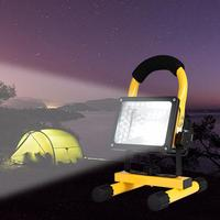 30W LED Floodlight Portable Searchlight Waterproof Flood Light Rechargeable Camping lamp repair Work Light Flashing Light
