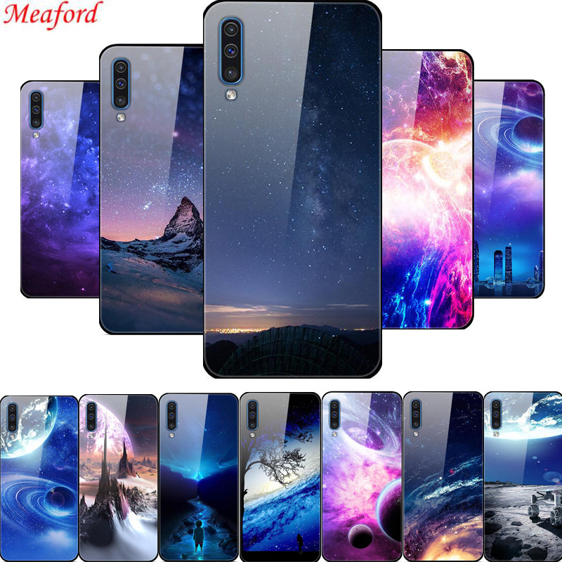 Popular Case For <font><b>Samsung</b></font> Galaxy A50 A30s A51 Case Glass Back Cover Case For <font><b>Samsung</b></font> A71 A51 <font><b>A70</b></font> A50 Case <font><b>2019</b></font> Cover A 50 <font><b>Coque</b></font> image