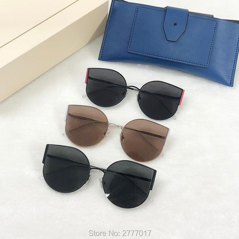 2019 Cat eye Sunglasses Women Luxury Brand Gentle Designer Metal Original Sun Glasses For Female vintage