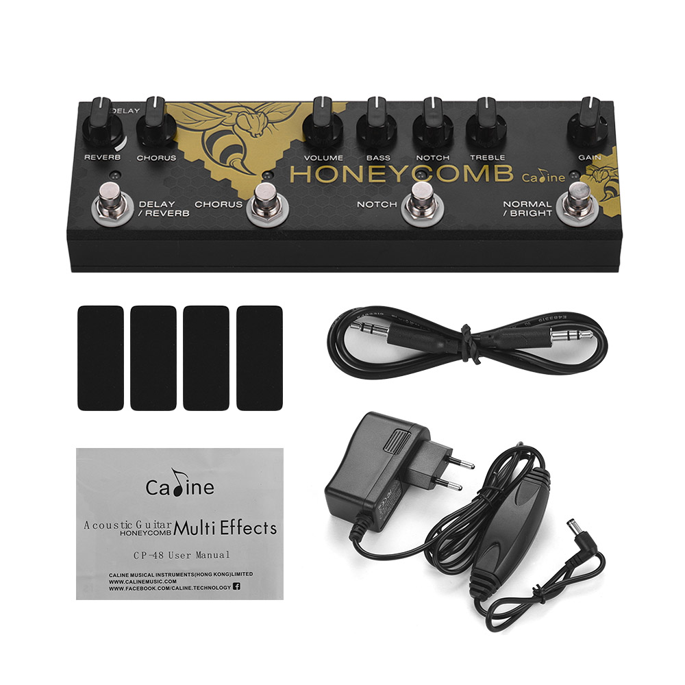 Caine CP-48 Acoustic Guitar Multi Effects Pedal Chorus Delay Reverb Notch Boost EQ Guitar Effects Pedals Guitar AccessoriesCaine CP-48 Acoustic Guitar Multi Effects Pedal Chorus Delay Reverb Notch Boost EQ Guitar Effects Pedals Guitar Accessories