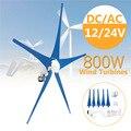 Generatore di vento per la Turbina Cinque Pale Eoliche Opzione 800 W Regolatore del Vento Regalo Adatto per la Casa O di Campeggio + Montaggio accessori del sacchetto