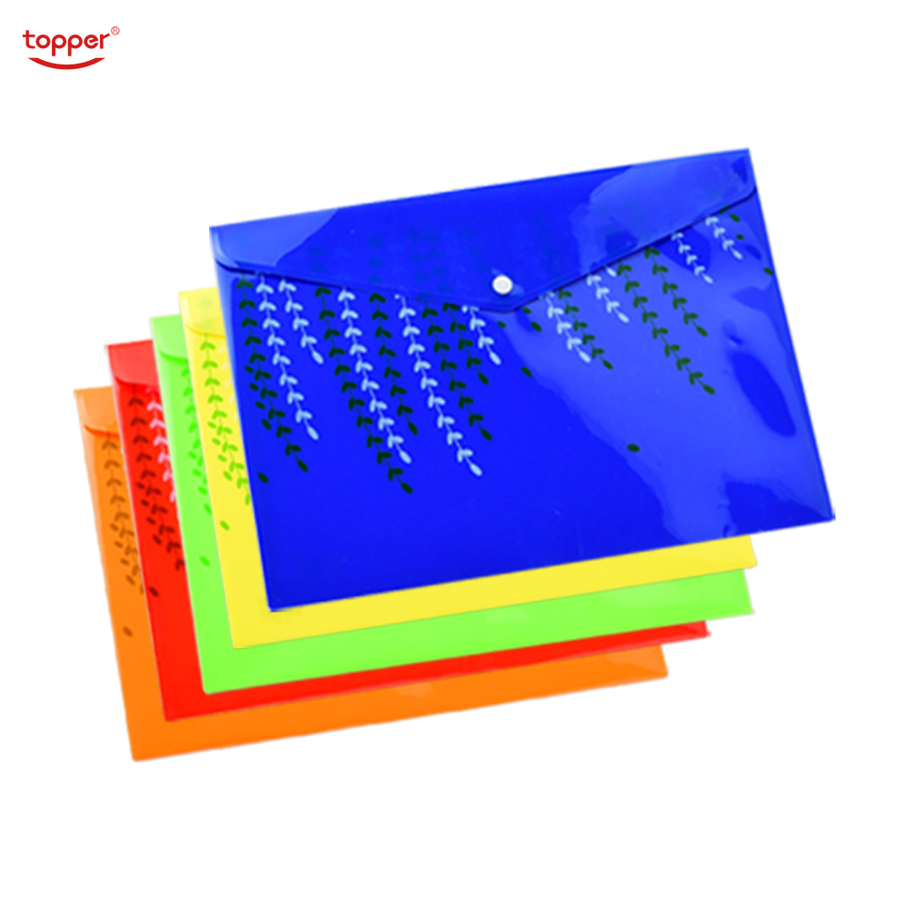 TOPPER 1pcs Freeshiping FC/A4 Size Opaque Printed Plastic Document Bag Folders Filing Paper Storage Office School Supplies Bag