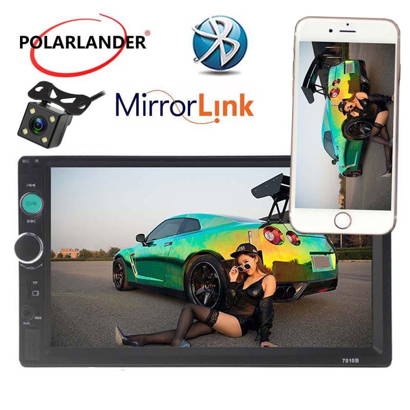 Lecteur Radio cassette Autoradio Auto lien miroir Autoradio modèles généraux 7 ''2 DIN ecran tactile LCD Bluetooth appel mains libres