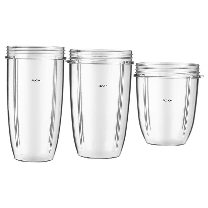 600W/900W Large Universal Replacement For Nutribullet Blender Cups Mug Cup 18OZ / 24OZ / 32OZ