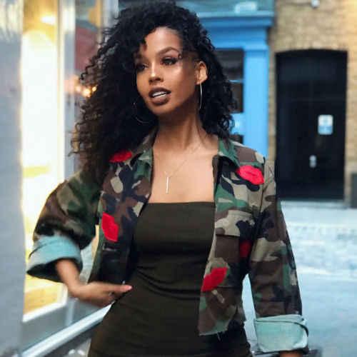 2018 Herfst Mode Vrouwen Camo Dames Militaire Leger Korte Shirt Jasje Uitloper Jas Tops Hot