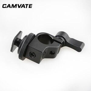 Image 5 - CAMVATE Standard Einzel Rod Clamp 15mm Schiene Stecker Adapter Mit Heißer/Kalten Schuh Halterung Für DSLR Camer Fotografie zubehör